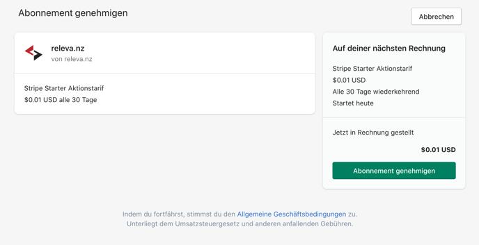 Shopify_Abonnement_genehmigen